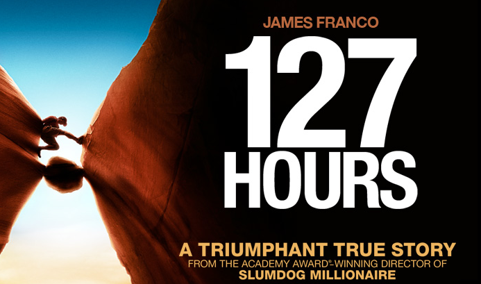 127 Hours starring James  Franco (2010).