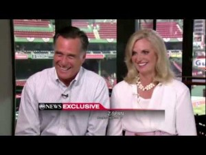 Mitt and Ann Romney laughing about the President