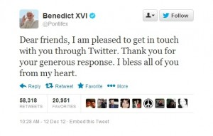 The first Pope on Twitter
