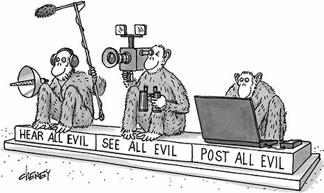 3 wise media monkeys evil